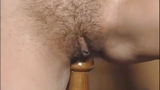 Exciting hot retro porn repute chick in vintage down in the mouth lingerie are playing retro sex toys