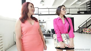 Mature lesbian Overheated Mary shows barely legal Darcia Lee even so it's done