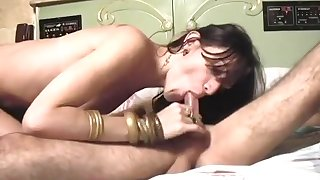 Enticing tgirl Millie Barebacked By Bald twink