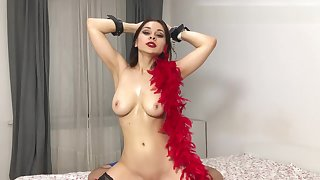 sexy showgirl dough lips ride on my dick