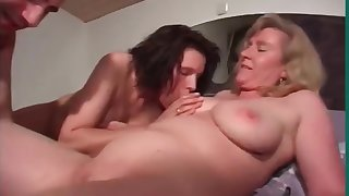 A Typical Dinner Party Turns Procure A Red Hot FFM Threesome