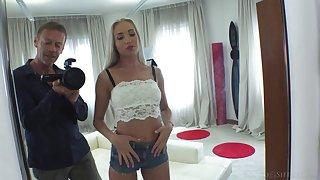 Slender Ukrainian model Angelika Grays is fucked anally by Rocco Siffredi