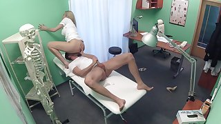Medical professional gets what she wants foreign a young patient