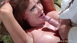Of age pornstar Darla Crane loves to swell up a dick after sex