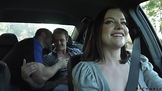 Wild slut with heavy arse Sovereign Syre loves hardcore bisexual MMF threesome