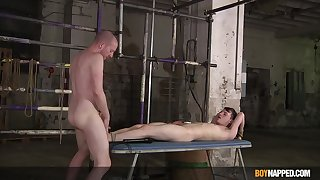 Twink likes the feeling be required of unearth sliding round his ass