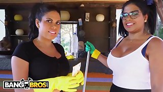 Brazilian maids, Young lady Ortega with the addition of Kesha Ortega frequently get drilled instead of doing their bustle
