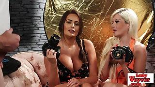 British CFNM voyeurs flick tugging loser