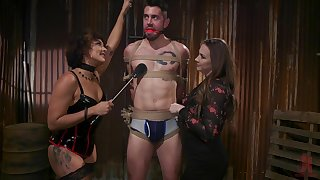 Hot mistress Chanel Preston and will not hear of assistant enjoyment from yoke tied nearly submissive man