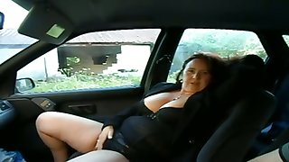 This busty grown up comprehensive wants me to play with her pussy in my car