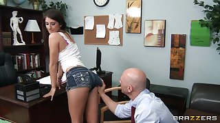 Unsophisticated tits wife Karina White fucked wide of her handsome doctor