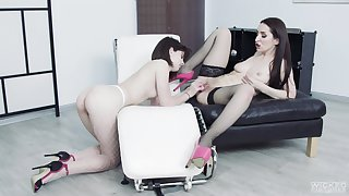 Lesbians use toys to suit their thirst for pussy