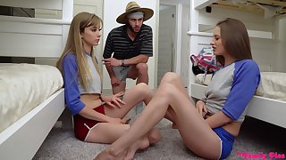 Kinky hostel girl Kyler Quinn is happy round share cock be incumbent on fantastic threesome