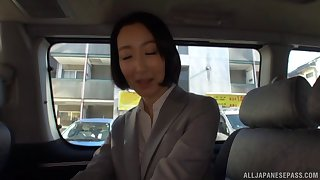 Delicious babe Eri Ito moans while having sex with a stranger