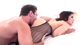 Curvy overcast in sexy lingerie penetrated more lover's crumple