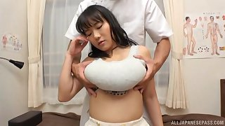 A marvelous doctor receive with a busty Asian